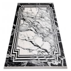 Moderný koberec TULS štrukturálny, strapce 51210 Mramor antracit
