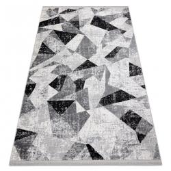 Modern szőnyeg TULS szerkezeti, rojt 51211 Geometric antracit