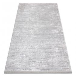 Modern szőnyeg TULS szerkezeti, rojt 51248 szürke