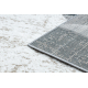 Килим POLI 8408A геометричен бял / сив