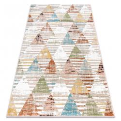Szőnyeg POLI 9051A Geometriai, háromszögek bézs / terrakotta
