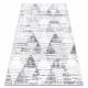 Килим POLI 9051A геометричен, триъгълници бял / сив