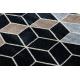 Килим POLI 9139A куб 3D черно / сив