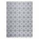 Tapete ARGENT - W4949 Flores branco / cinzento