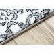 Carpet ARGENT - W4949 Flowers white / grey