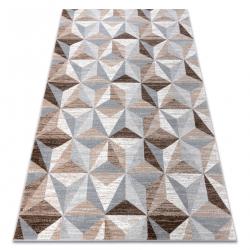 Килим ARGENT - W6096 трикутники бежевий / сірий