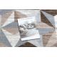Tapete ARGENT - W6096 Triângulos bege / cinzento