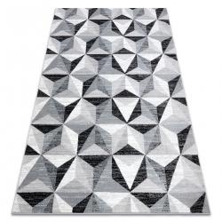 Covor ARGENT - W6096 triunghiuri gri / negru
