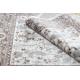 Tapete ARGENT - W7039 Flores bege / cinzento