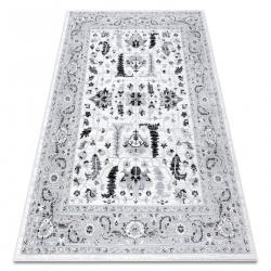 Matta ARGENT - W7039 Blommor grå / svart