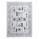 Carpet ARGENT - W7039 Flowers grey / black