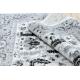 Tapete ARGENT - W7039 Flores cinzento / preto