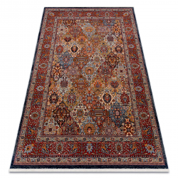 Teppich Wolle KESHAN Franse, Ornament, Rahmen orientalisch 7576/53511 terrakotta