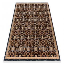 Carpet Wool KESHAN fringe, oriental classic 7680/53511 beige / navy