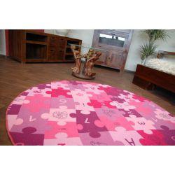 Okrúhly koberec PUZZLE fialová