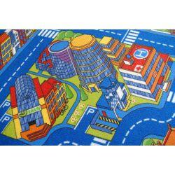 Dywan dziecięcy ULICZKI BIG CITY niebieski