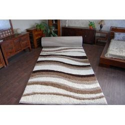 Shaggy szőnyegpadló LONG 5cm minta 2490 elefántcsont bézs