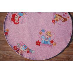 gyermek szőnyeg kör DISNEY HERCEGNŐ rózsaszín