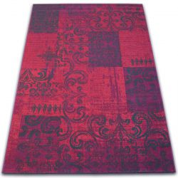 Tapis Vintage 22215/082 fuchsia patchwork