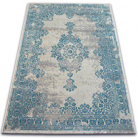Tapis Vintage Rosette 22206/064 turquois / gris