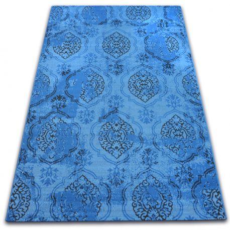Tapis Vintage 22213/473 bleu classique