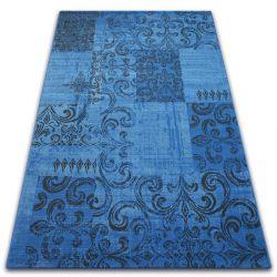 Tapis Vintage 22215/073 bleu / gris patchwork