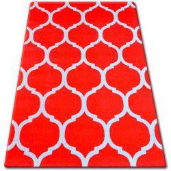 Koberec BCF FLASH 33445/151 Marocký jetel, mříž, červený