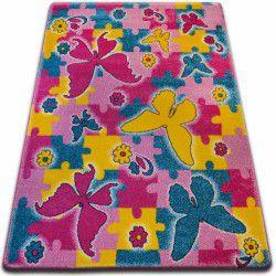 gyerekek szőnyeg Pillangó rózsaszín C429