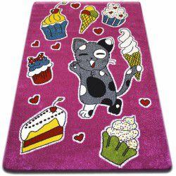 gyerekek szőnyeg Muffin rózsaszín C415