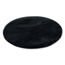 Covor rotund Shaggy Micro negru