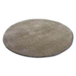 Kulatý koberec SHAGGY MICRO tmavě béžová