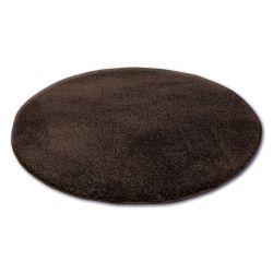 Kulatý koberec SHAGGY MICRO hnědý
