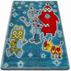 gyerekek szőnyeg Robotok kék C419