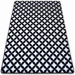 Tappeto SKETCH - F757 bianco/nero - Quadri