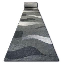 Sizal futó szőnyeg FLOORLUX minta 20212 fekete / ezüst