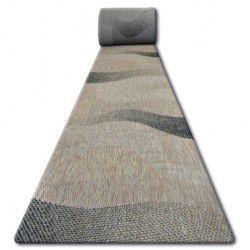 Sizal futó szőnyeg FLOORLUX minta 20212 coffe / fekete