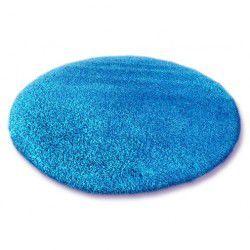 TAPPETO cerchio SHAGGY 5cm blu