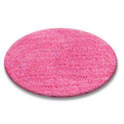 Covor rotund Shaggy 5cm roz