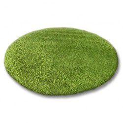Tapete redondo SHAGGY 5cm verde