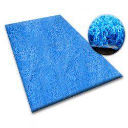 Matta - vägg till vägg SHAGGY 5cm blå