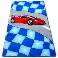Happy gyermek szőnyeg C227 kék Autó
