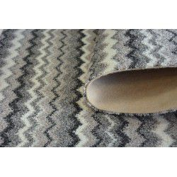 Zigzag szőnyegpadló szőnyeg szürke 0093