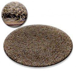 Shaggy galaxy szőnyeg kör 9000 fényes barna
