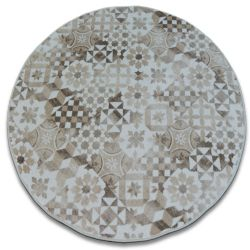 Maiolica szőnyeg kör bézs lisszaboni stílus LISBOA